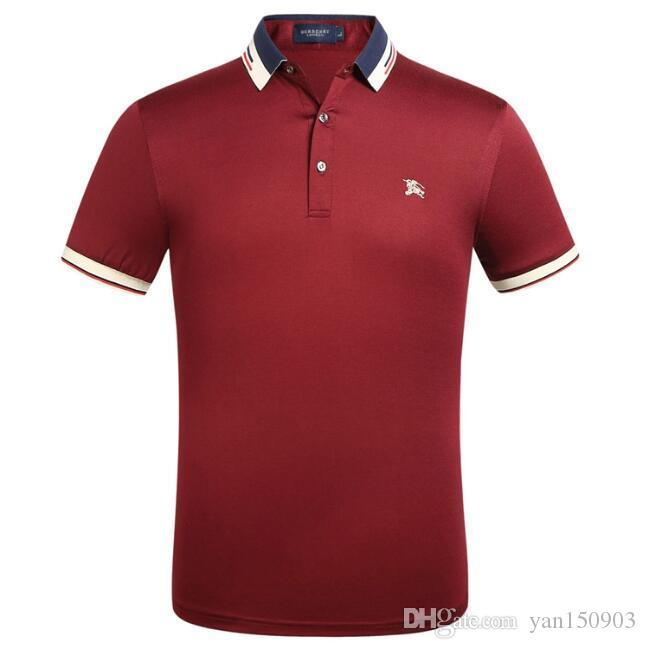 Men's summer new lapel shirt POLO shirt half-sleeve T-shirt for men's wear