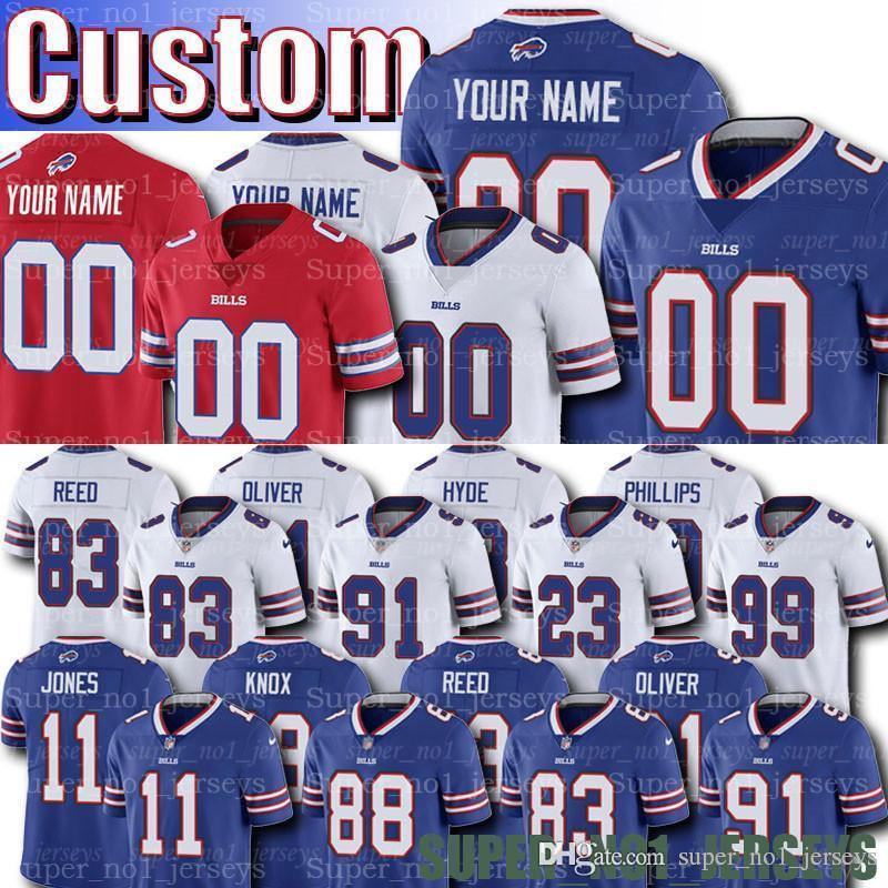 e5e0b21d Custom Bills Jerseys 91 Oliver Jerseys 78 Bruce Smith Jersey 10 Cole  Beasley 83 Andre Reed Foster Ford Tasker Knox Morse Hughes