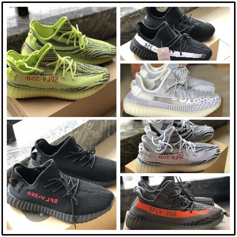 d23402f5350ef 2019 Designer 350 V2 Mens Women Running Shoes Kanye West Black With Beluga  Sneakers Men Sports Shoes Cream White Aleby Yzy30 From Lansely