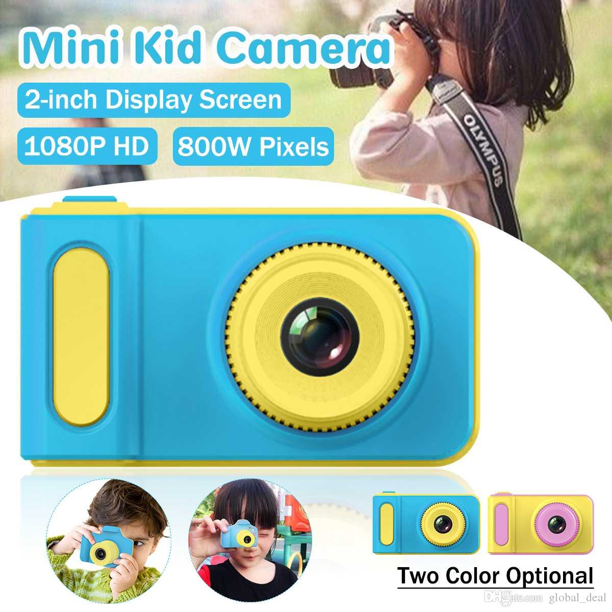Kids Camera Mini Digital Camera Cute Cartoon Cam 1080P Toddler Toys