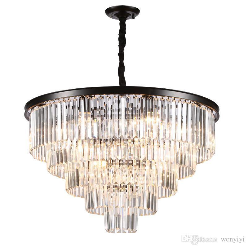 American Luster Crystal Chandeliers Led Pendant Metal Room Lights Led Lighting Chandelier Dining Room Hanging Fixtures Clear Crysta 100 240v