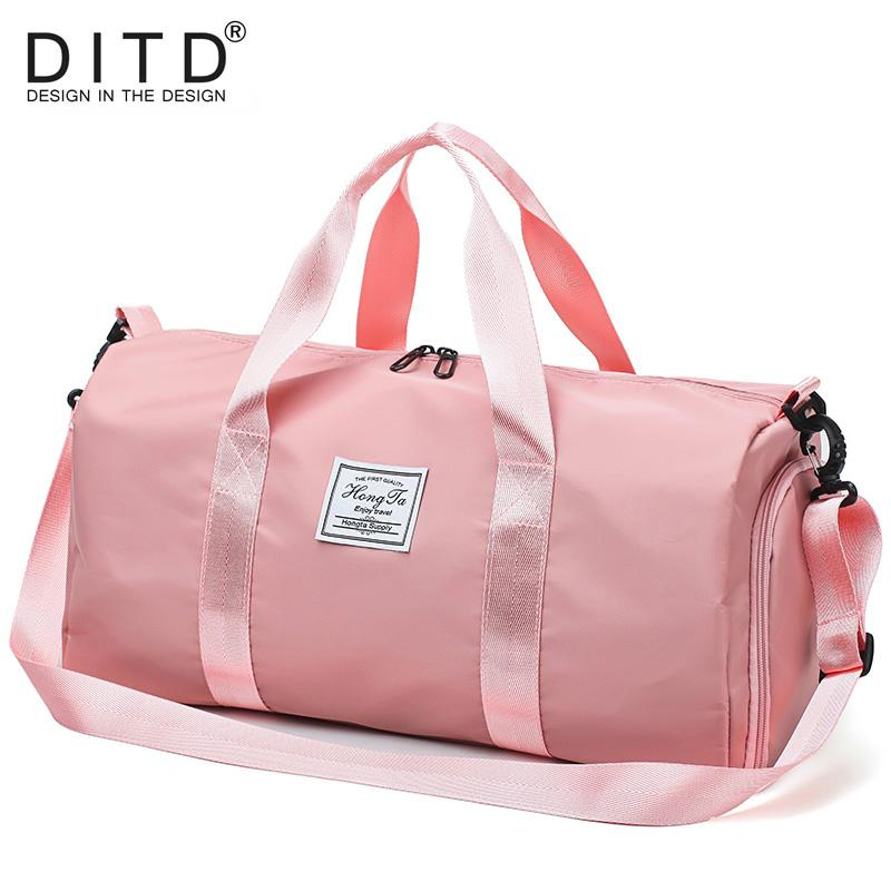 0a069185493 DITD 2019 Casual Style Travel Bag For Men And Women Pink Red Black Fitness  Bag Gym Fitness Shoulder Hand Weekend Sports Bags Gym Bags For Men From  Sunsnoww