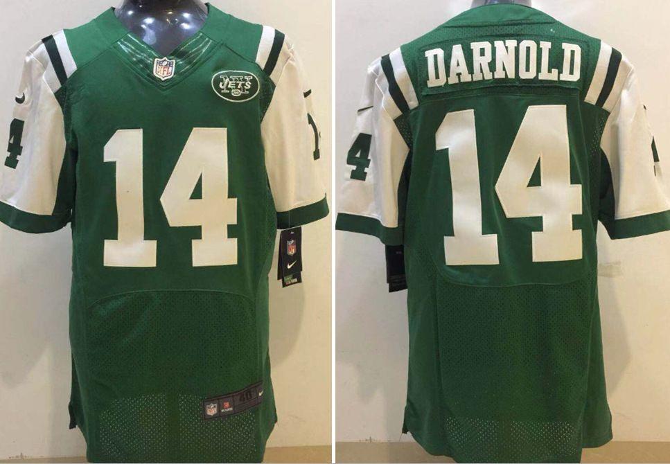 meet e7d41 ff947 Elite New York 4XL Jets Sam Darnold Football Jerseys Cheap #14 Sam Darnold  Green White Stitched Football Shirts M-4XL