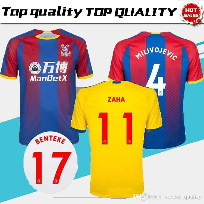 ec5194a1acba 2019 18 19 Crystal Palace Soccer Jersey Home Away Third 2018 2019 ZAHA  MILIVOJEVIC VAN AANHOLT SAKHO BENTEKE TOWNSEND Football Shirts Top Quality  From ...