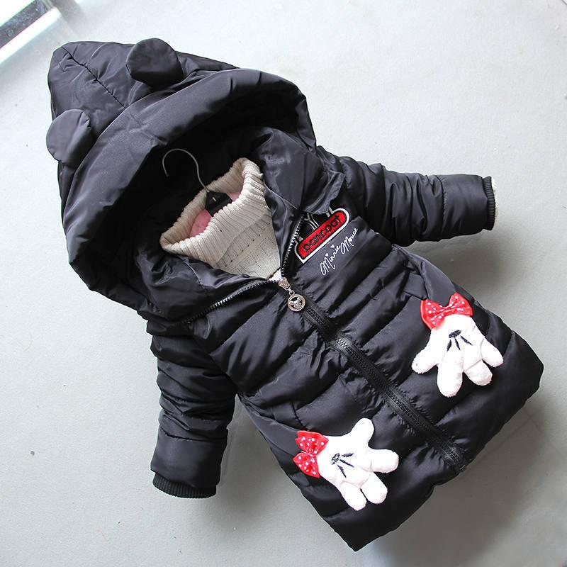 f431e3433 Good Quality Girls Winter Jackets Kids Fashion Long Thick Cartoon ...