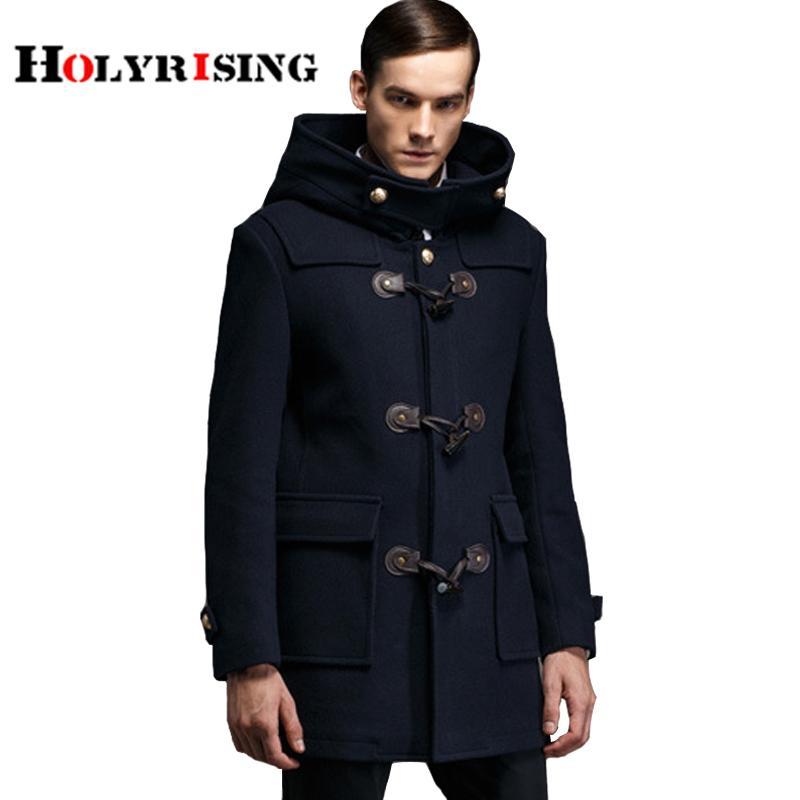 95366ccbe78 Men Trench Coat Horn Button Wool Blends Suit Design Wool Coat Men S Casual  Design Jackets Coat For Men Nylon Jackets Shop Coats From Whiteheat