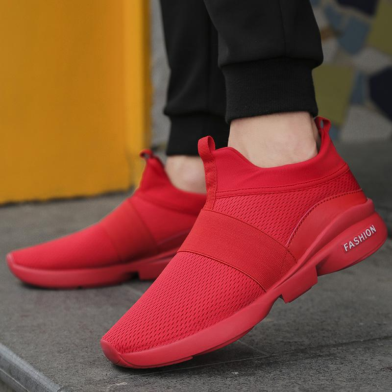 df06e8e28a9 2019 Fashion Spring/Autumn New Models Men Shoes Comfortable Youth Casual  Shoes For Male Soft Mesh Design Lazy Shoes 08 Shoes Online Basketball Shoes  From ...