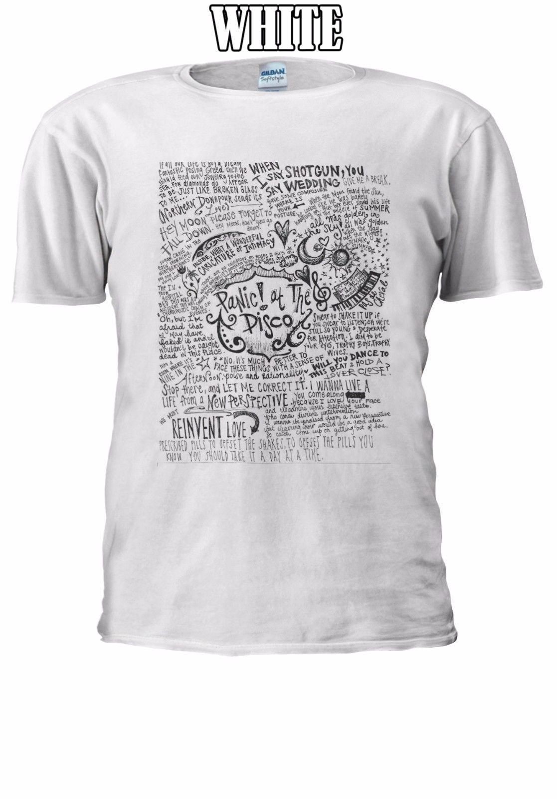 0db89e22aed196 Panic! At The Disco American Band T Shirt Vest Tank Top Men Women Unisex  2556 Jacket Croatia Leather Tshirt Denim Clothes Camiseta T Shirt Weird T  Shirts T ...
