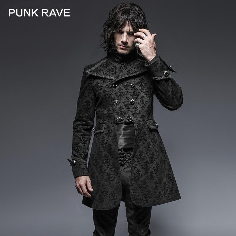 Acheter Punk Rave Motif De Fleur Gothique Denim Tissu Homme Veste