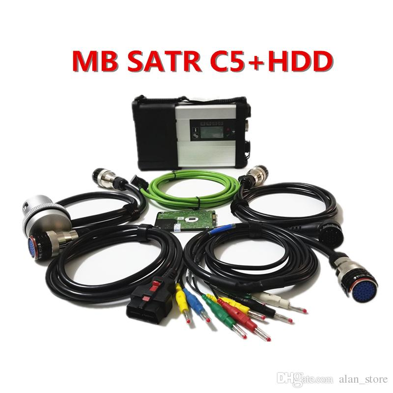 TOP Quality MB STAR C5 SD CONNECT Diagnostic Tools with WIFI MB Star C5 soft-ware 2019.05 HDD Diagnosis Interface for Cars & Trucks
