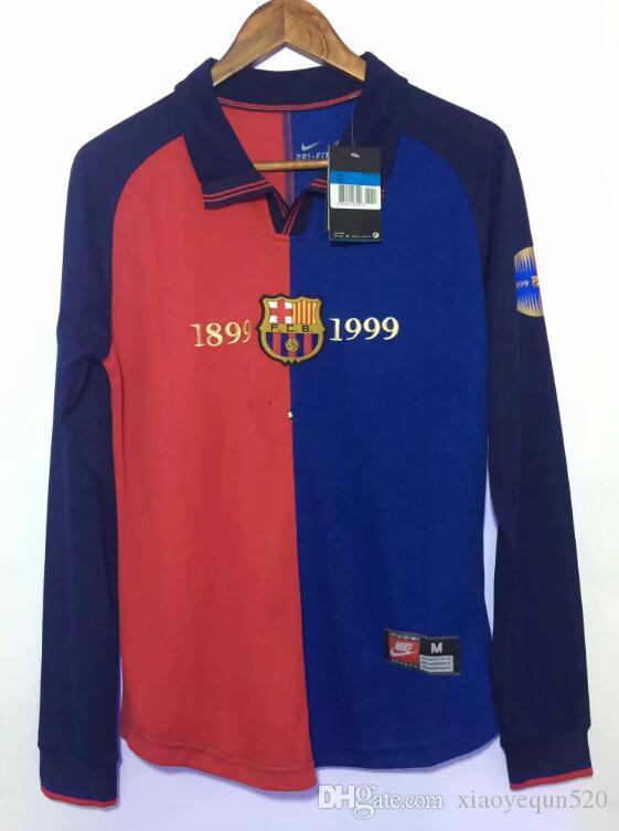 factory price 636f3 e7c2a 98 99 Retro barcelona MESSI SUAREZ soccer Jersey training wear Camisas  Dembele INIESTA 100 edition Kit football shirt