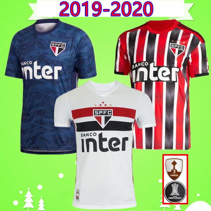 save off 5c382 9b9fb 2019 2020 Sao Paulo Brasilien Fußball Trikot Torwart blau rot schwarz 19 20  Bruno Peres Antony Pablo Reinaldo Joao Rojas Fußball