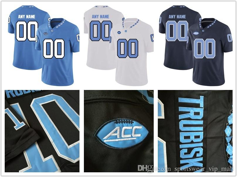 da167e4fc 2019 NCAA Custom Tar Heels Stitched Personalized Black White Blue Customized  North Carolina College Football Jerseys From Sportswear vip mall