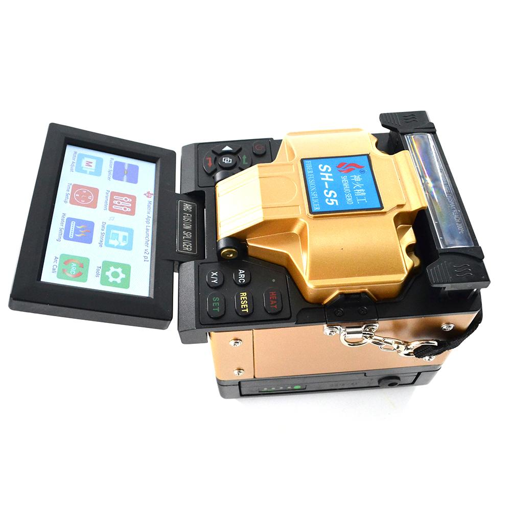 SH-S5 FTTH Fully Automatic Core Alignment Fusion Splicer Fiber Optic Splicing / Welding Machine with Cheap Price