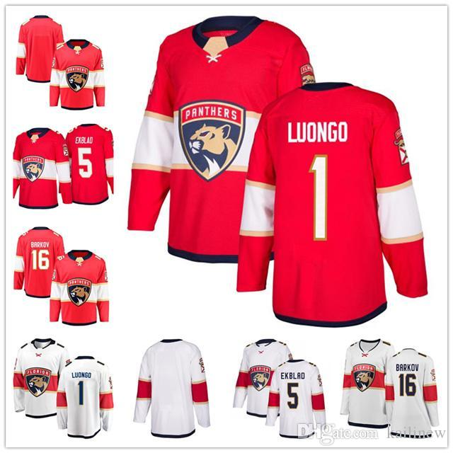 separation shoes c853f 0f9f5 male Men Florida Panthers jersey 1 Roberto Luongo 5 Aaron Ekblad 16  Aleksander Barkov blank ice Hockey Jerseys