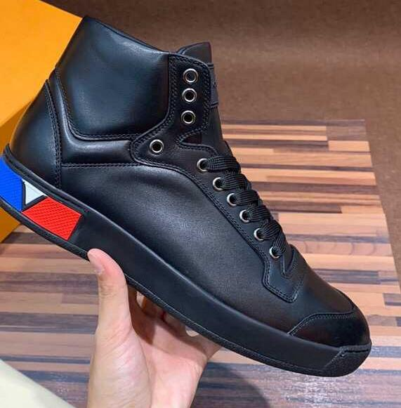 2019 fashion simple atmosphere classic autumn and winter shoes for men and women Calf leather tailored sneakers black