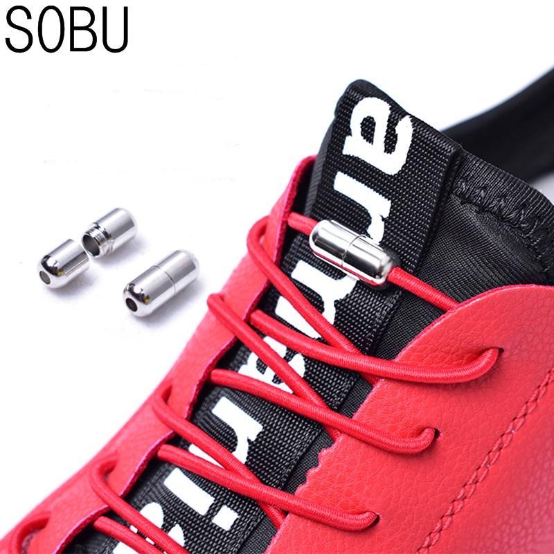 c16a87c71 2019 Elastic No Tie Shoelaces Locking Round Shoe Laces Kids Adult 100cm  Round Shoe Laces Strings From Ajshoesfactory, $34.79 | DHgate.Com