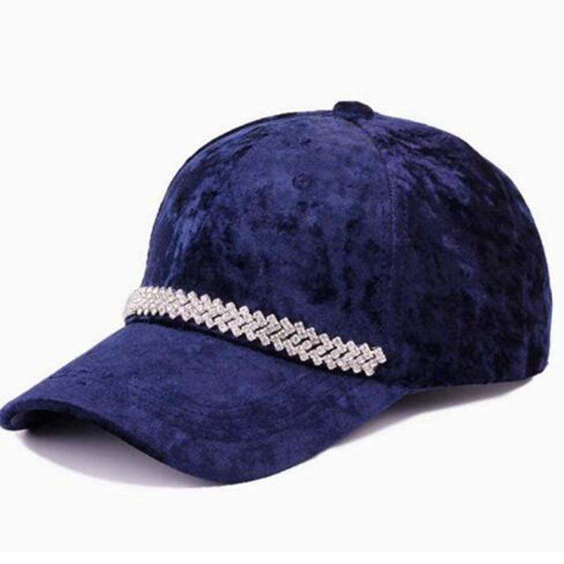 40eb932f4 Fashion velvet baseball cap women snapback hip hop black dad cap warmer  baseball hat H35