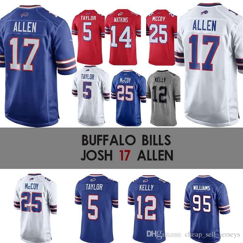 best website 043ff 7a2a5 17 Josh Allen Buffalo Jersey Bills 49 Edmunds 34 Thurman Thomas 25 McCoy 27  Tre Davious Blanc 95 Kyle Williams