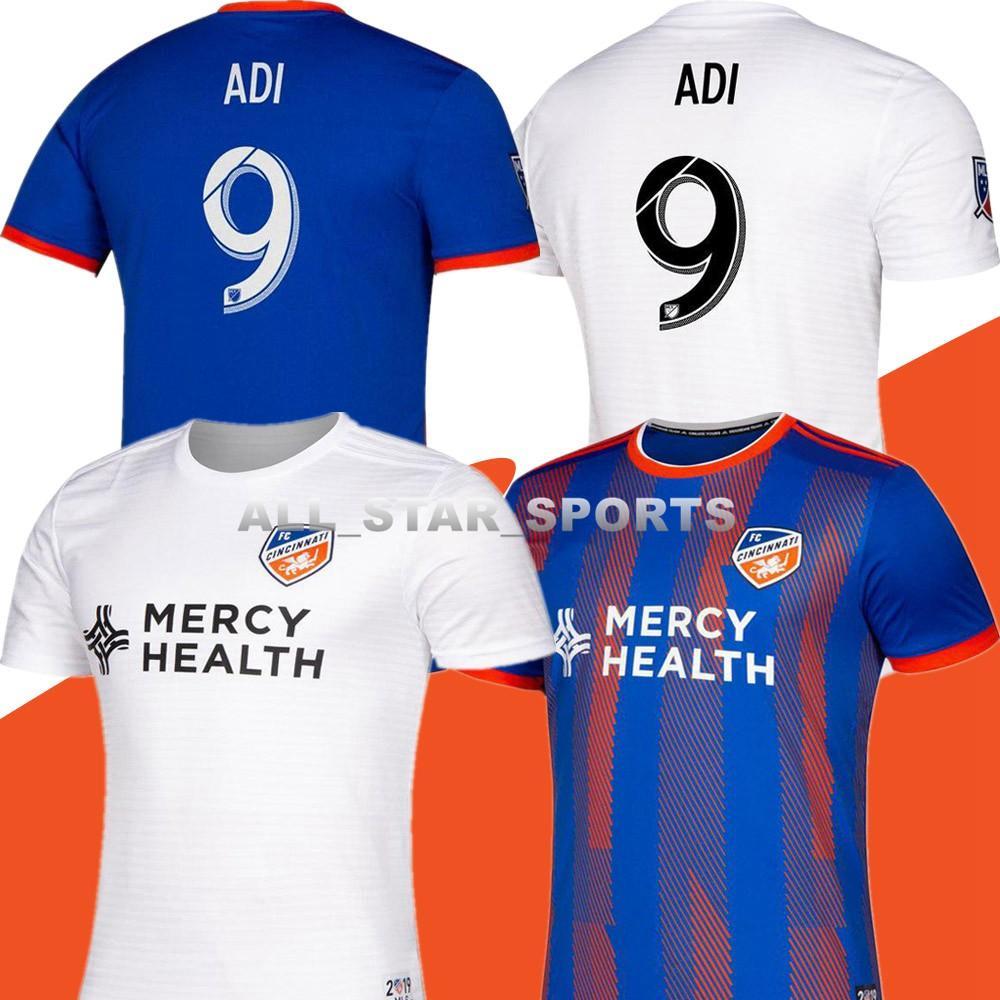 online store be3ec a24f4 2019 2020 FC Cincinnati soccer jersey 19 20 Thai quality MLS GARZA WASTON  BERTONE ADI A.CRUZ football jerseys shirt