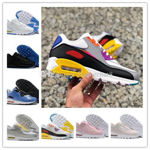 nike air max 2019 diseñador 90 Be True Rainbow para mujer zapatillas de correr para hombre Chaussures Homme Mesh 90s zapatillas deportivas para