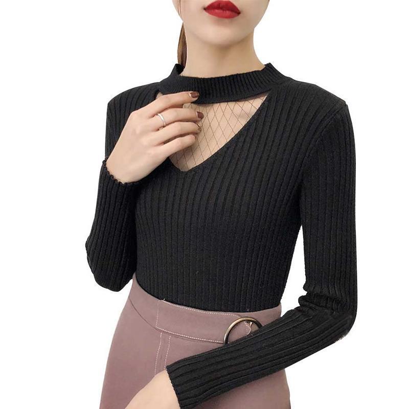 44ecc467ae9 Womens Sweaters 2018 Winter Tops Turtleneck Sweater Women Thin Pullover  Women's Turtleneck