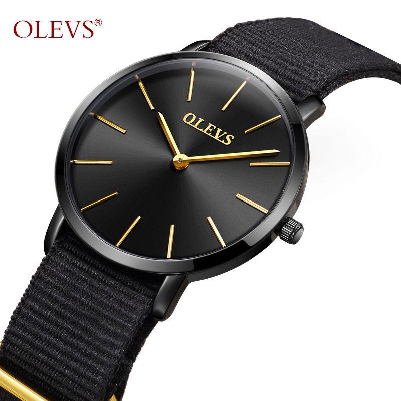 a07f20d61bd Compre OLEVS Mulheres Relógios Minimalista Super Slim Simples Relógio  Mulheres Aço Inoxidável Ladies Relógio Preto À Prova D  Água Para O Relógio  Feminino ...