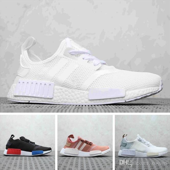 the best attitude 39f25 707cc 2019 Human Race NMD Running Shoes Pharrell Williams Hu trail Oreo Nobel ink  Black Nerd Designer Sneakers Men Women Sport Shoes