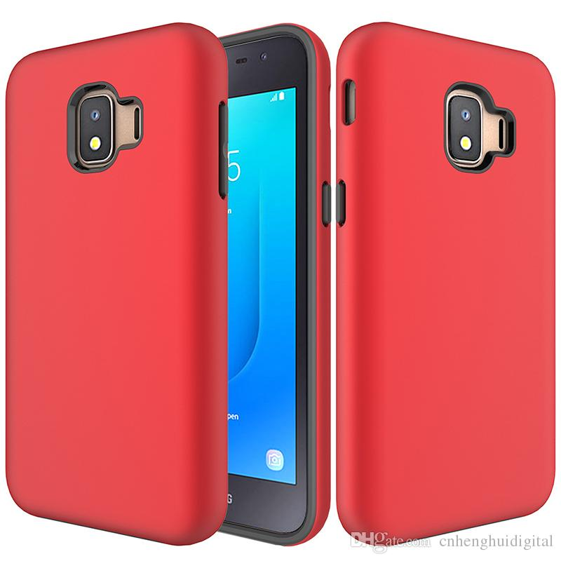 Armor Hybrid Phone Cases For Samsung Galaxy J2 Core A6 2018 Alcatel 1X  Evolve TPU PC ShockProof Oppbag cheap price