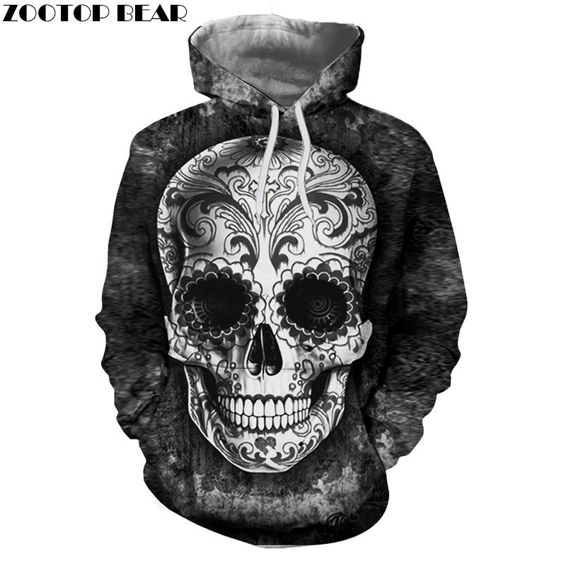 7410f216ea8c 2019 Sugar Skull Hoodies Men Sweatshirts Drop Ship Printed Hoodie 3d Hooded  Tracksuits Unisex Pullover 6XL Casual Coat Male Hoodie C18121701 From  Linmei0006 ...