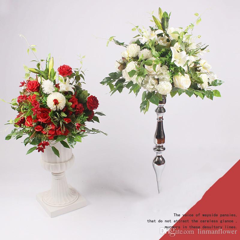 2019 wedding flower wall arrangement supplies silk rose artificial rh dhgate com