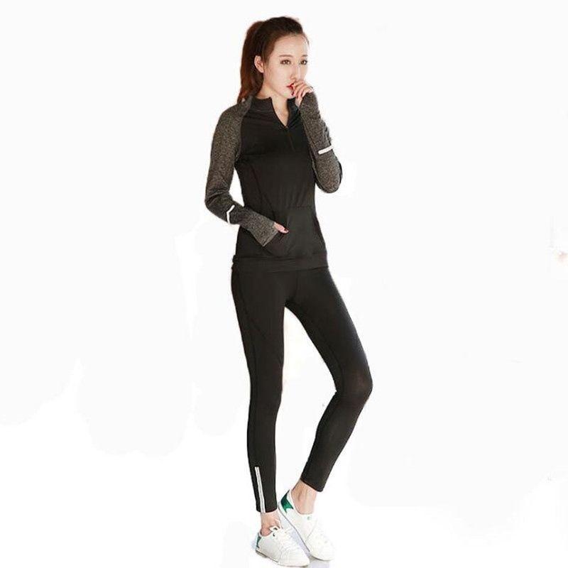 Compre 2018 Otoño Nuevas Mujeres Trajes Deportivos Ropa Conjuntos De Yoga 3  Unids Mujer Ropa Deportiva Sujetador De Yoga Gimnasio Ropa Deportiva  Jogging ... 2536cdd78683