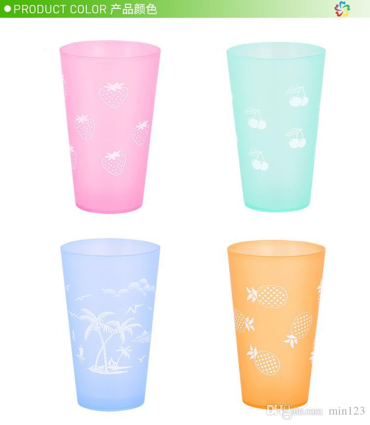 Satın Al Boyama çiçek Plastik Su Suyu çay Bardağı Kısa Bira Bardağı