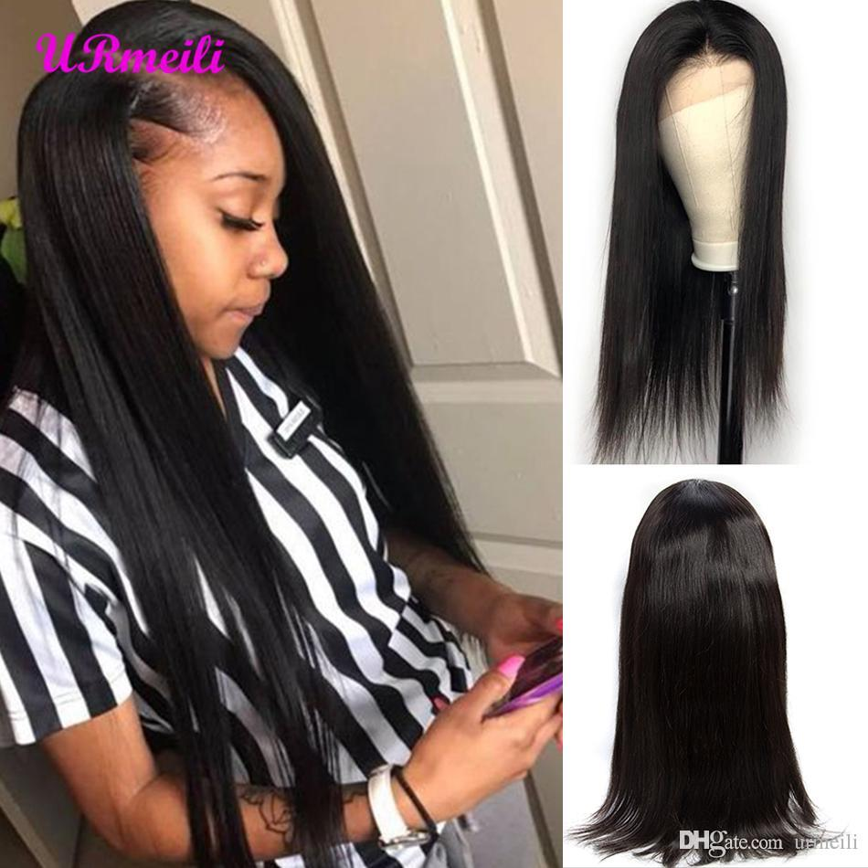 360 Full Lace Human Hair Wigs Pre Plucked With Baby Hair Straight Brazilian Remy Human Made Hair Lace Front Wigs For Black Women