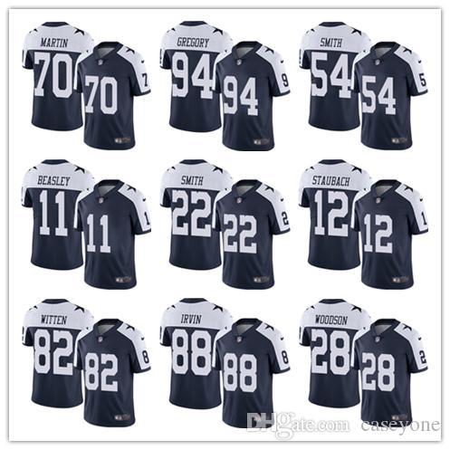 ddd4270c Dallas Jersey Cowboys 21 Ezekiel Elliott 50 Sean Lee 82 Jason Witte 11 Cole  Beasley 90 Lawrence Vander Esch Emmitt Smith football