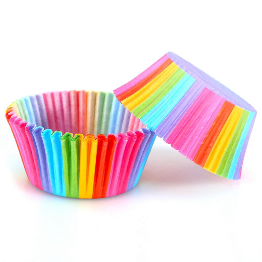 100pcs Cupcake Paper Cups Cupcake Liner Cupcake Paper Baking Cup Muffin Cases Cake Mold Small Cake Box Cup Tray Decorating