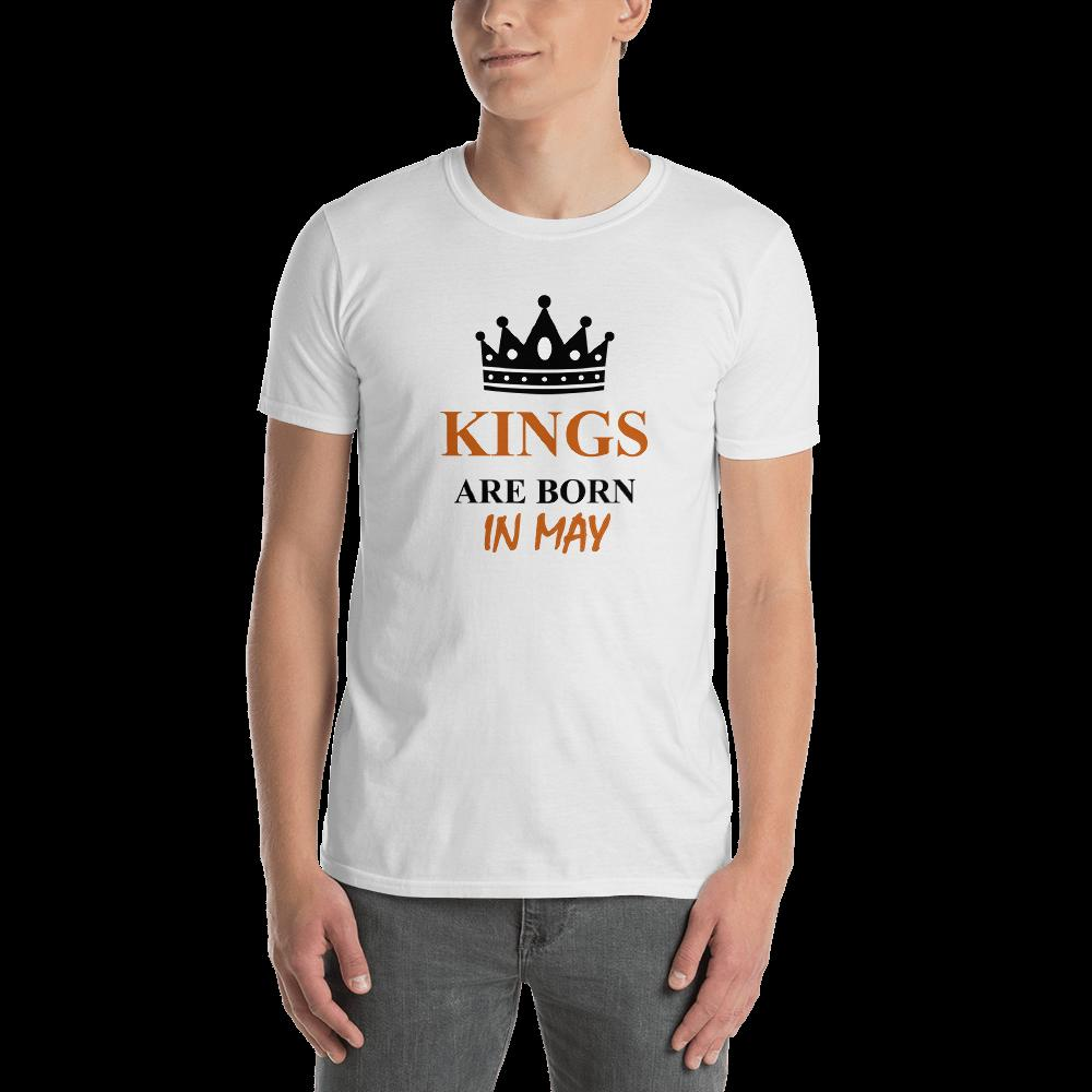52f3235fc KINGS ARE BORN IN MAY Monthly Birthday Black And Orange Print On Men'S  Short S Brand Men T Shirt Casual Short Sleeve That T Shirt But T Shirts  From ...