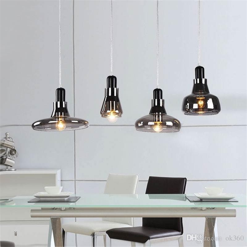 modern brief shadows led crystal glass cord pendant light smoke gray rh dhgate com