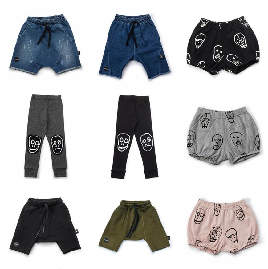 3aa3af472c53 NUNUNU Kids Boys Pants 2019 Summer Skull Beach Baby Girls Jeans Harem Pants  Cotton All Match Sports Trousers Children Costume Boys Cargo Pants Slim Boys  ...