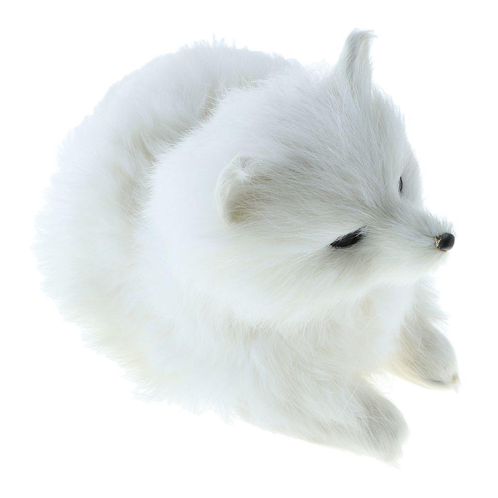 simulation snow fox wild animal model figurine kids learning tool rh dhgate com
