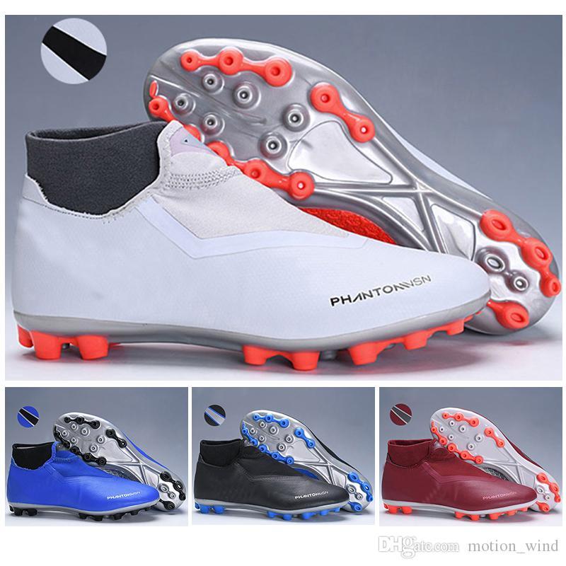 2019 2019 Kids High Ankle Football Boots Phantom VSN Elite DF AG Soccer  Shoes Mens Womens Phantom Vision AG Outdoor Soccer Cleats From Motion wind 70162c41c7e4