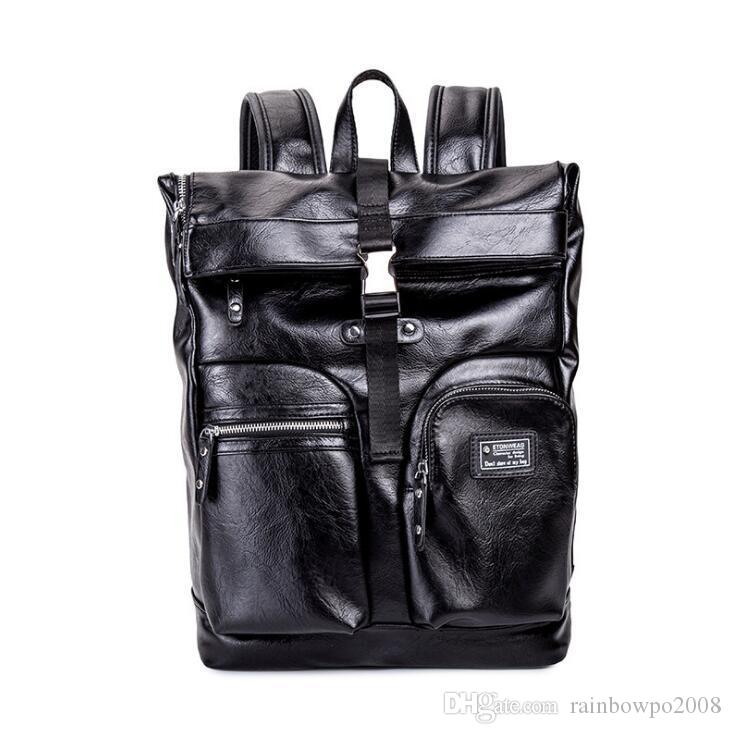 Wholesale brand men handbag high quality leather men backpack multi-functional compartment computer bag outdoor travel leisure leather backp