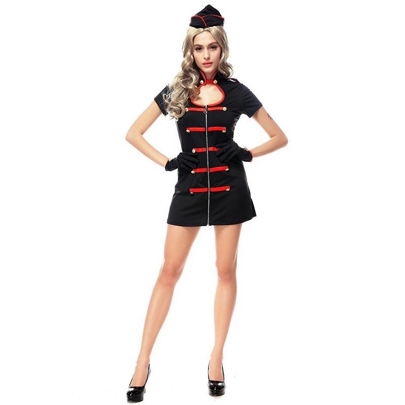 732343776da Halloween Sexy Women s Black Sexy Vampires Nurse Uniform Set Costume ...