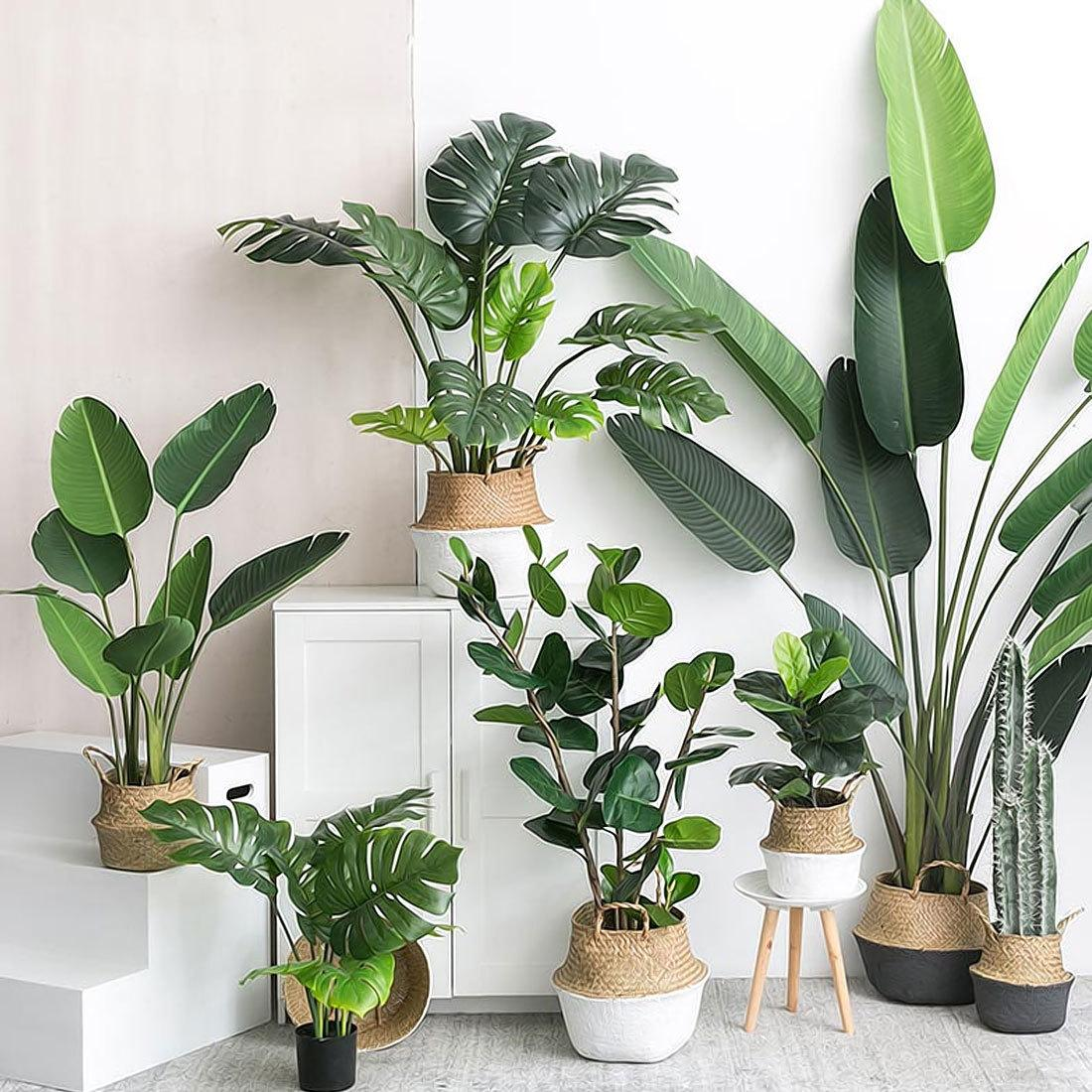 2019 Artificial Plants Green Turtle Leaves Garden Home Decor 1