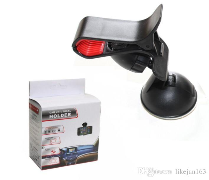 Universal 360 Degree Car Auto Accessories Rotating Phone Holder Clip de montaje en parabrisas para iPhone GPS