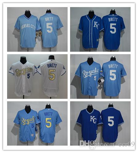 dbf2482cf0a Custom Men s Women Youth Kansas City Royals Jersey  5 George Brett ...
