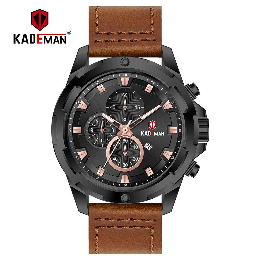 3dd8698d544 KADEMAN New Luxury Dial Sport Watch Business Mens Waterproof Wristwatch TOP  Brand Army Quartz Watches Relogio Masculino Discount Watches Discounted  Watches ...