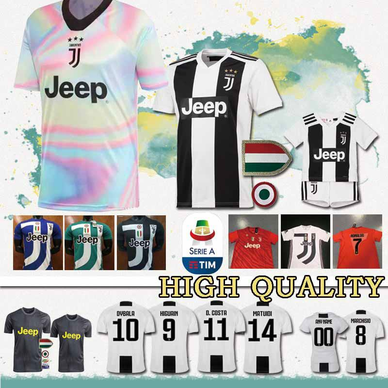 size 40 527f4 eefb1 Cheap sales New 2019 RONALDO JUVENTUS Soccer Jersey JUVE Home Away DYBALA  HIGUAIN BUFFON Football jerseys