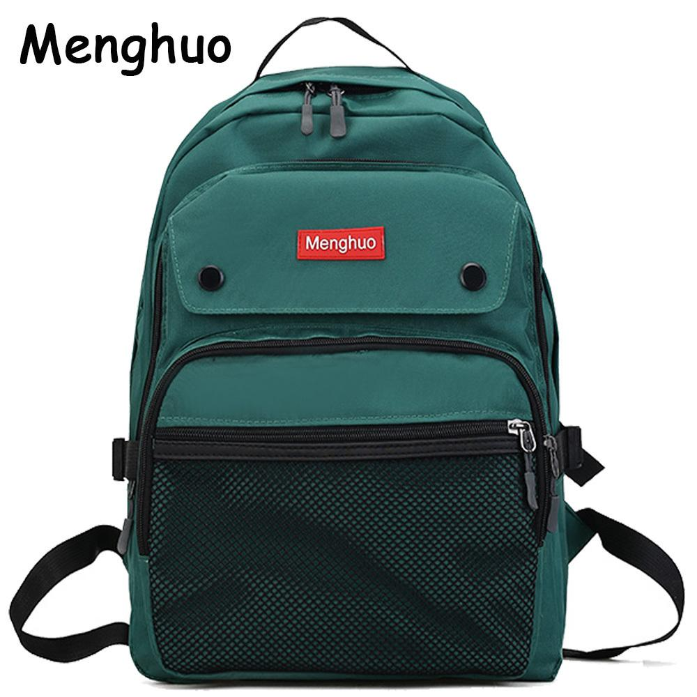 43cc9fd7d8d8 2017 Women Backpacks For Teenage Girls Youth Trend Schoolbag Student Bag  Menghuo BRAND Nylon Waterproof Laptop Backpack Mochilas Y18110202