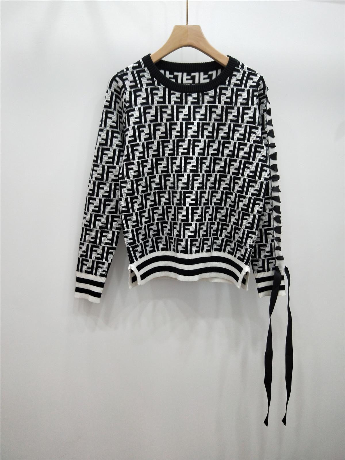 Compre 2019 Otoño E Invierno Manga Larga Vendaje Arco F Letra Manga Tejer  Blusas Suéter Mujer 6 A  50.35 Del Zhangdongyan258  77c5d7f33b12